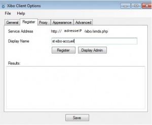 xibo-client-register